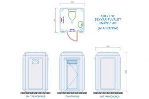 150X150 - Fiberglass WC