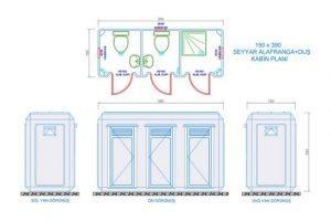150X390 -Fiberglass Shower & WC