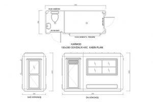 150X390 -Fiberglass Security & WC