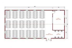 170 m2 Prefabricated Refectory