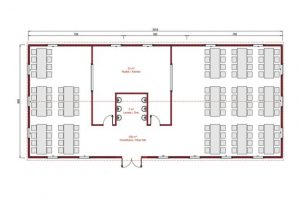 181 m2 Prefabricated Refectory