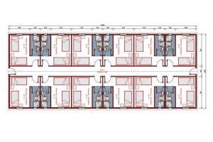 204 m2 Dormitory Plan