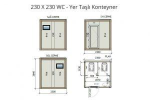 230 X 230 2 WC