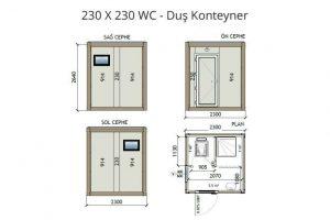 230 X 230 WC & Shower
