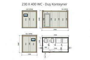 230 X 400 2 WC & 2 Shower
