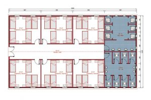 232 m2 Dormitory Plan