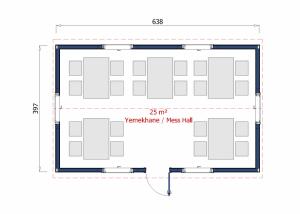 25 m2 Prefabricated Refectory