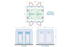 270 X 270 - Fiberglass Shower