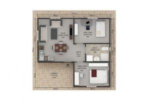 45 m2 Plan A