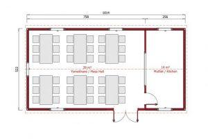 53 m2 Prefabricated Refectory
