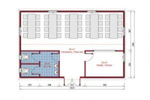 65 m2 Prefabricated Refectory