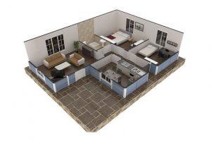 73 m2 Plan B