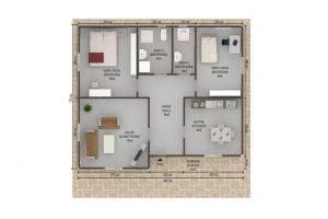 75 m2 Plan A