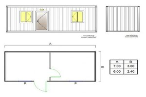 BGK 202 Classic Container Empty-2 Rooms