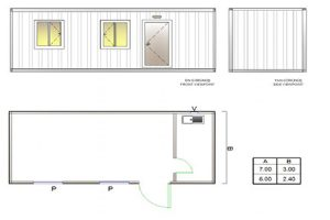 BGK 301 Classic Container, 1 Room & Kitchen