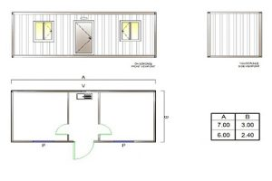 BGK 401 Classic Container, 2 Rooms & Kitchen
