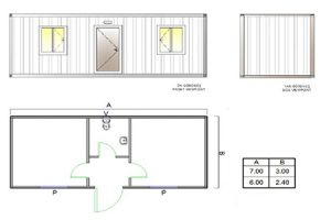 BGK 402 Classic Container, 2 Rooms & WC