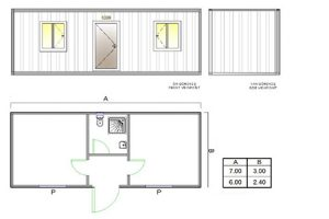 BGK 502 Classic Container, 2 Rooms & WC & Shower