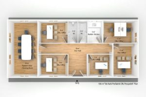 106 m2 Prefabricated Office