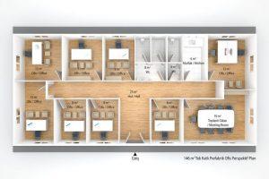 146 m2 Prefabricated Office