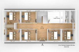214 m2 Prefabricated Office
