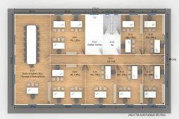 246 m2 Prefabricated Office