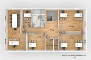 340 m2 Prefabricated Office