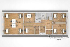 415 m2 Prefabricated Office