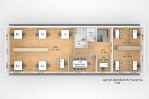 463 m2 Prefabricated Office