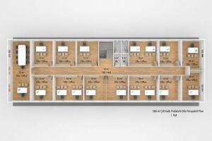 588 m2 Prefabricated Office