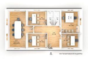 90 m2 Prefabricated Office